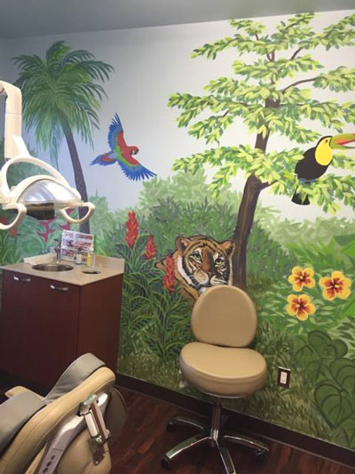 Patient check-up for pediatric dentist Dr. Salwa Atwan